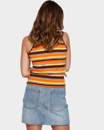 3 Seven O Singlet Orange R291705 RVCA