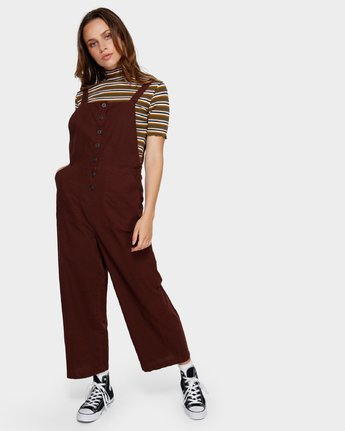 4 SHOUTOUT OVERALL Brown R291757 RVCA