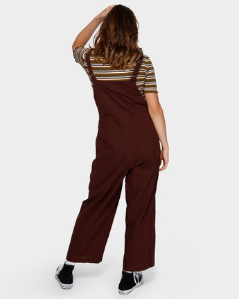 3 SHOUTOUT OVERALL Brown R291757 RVCA