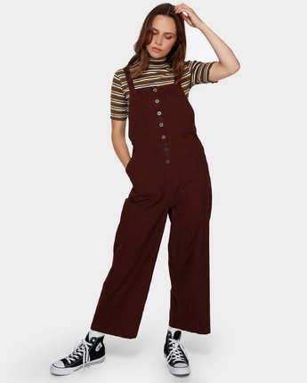 0 SHOUTOUT OVERALL Brown R291757 RVCA