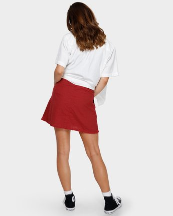 3 Shoutout Mini Skirt Brown R291833 RVCA