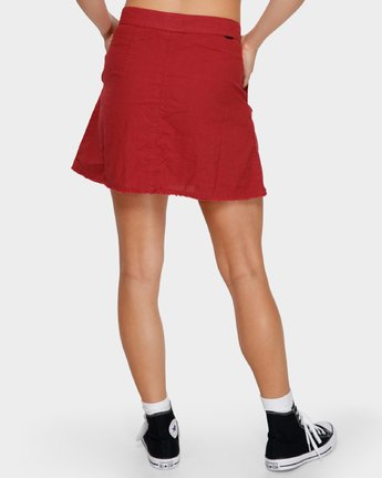 5 Shoutout Mini Skirt Brown R291833 RVCA