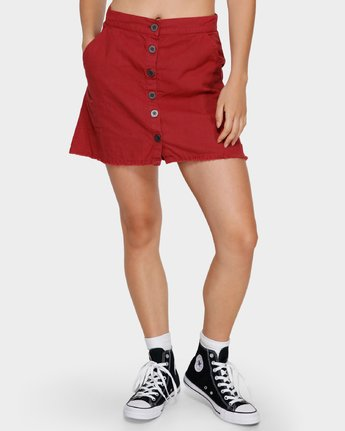 4 Shoutout Mini Skirt Brown R291833 RVCA