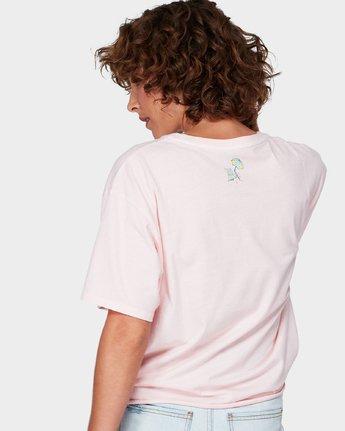 2 No Days Off T-Shirt Pink R292681 RVCA