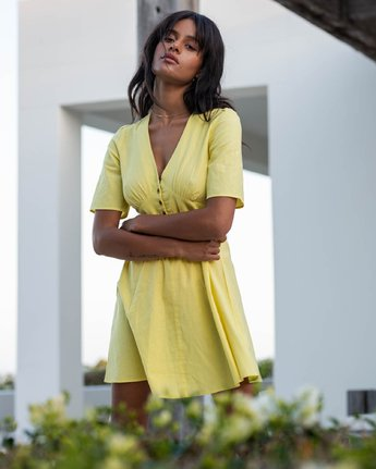 LEMON CRANE DRESS  R292755