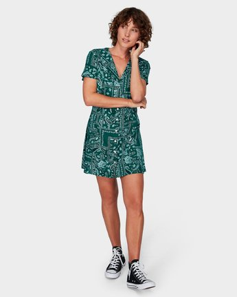 4 Farren Dress Green R292757 RVCA