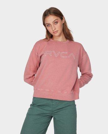 1 RVCA Keyline Pigment Crew Brown R293156 RVCA