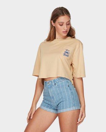1 RVCA Island Pocket T-Shirt Yellow R293683 RVCA