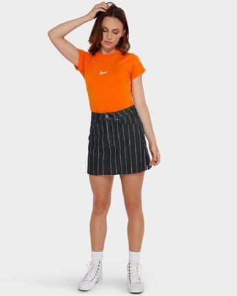 4 Flock Boy T-Shirt Orange R293694 RVCA