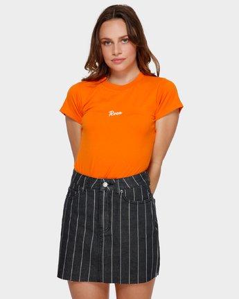 1 Flock Boy T-Shirt Orange R293694 RVCA