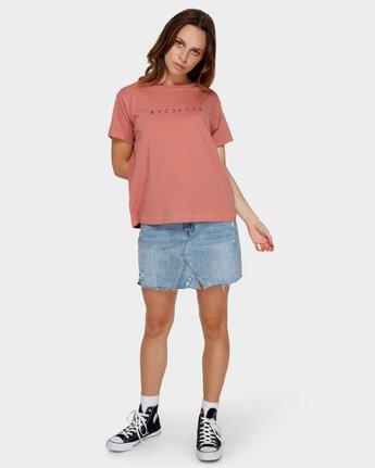 4 Switch T-Shirt Brown R293695 RVCA