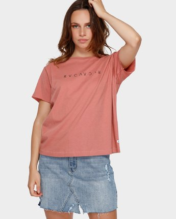 1 Switch T-Shirt Brown R293695 RVCA