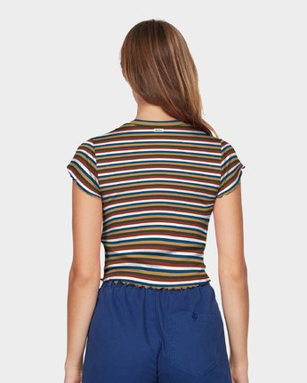 2 Let Us Stripe T-Shirt  R293703 RVCA