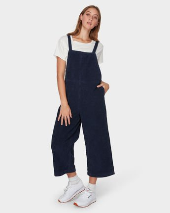 2 Crushed Plush Overall Blue R293756 RVCA