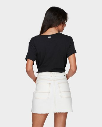 2 Rowdy Rewerked Skirt White R293831 RVCA