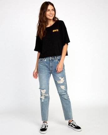 3 Matty's Patty's Short Sleeve T-Shirt Black R294681 RVCA