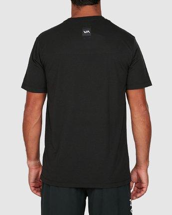 2 Double Down Short Sleeve Tee Black R305043 RVCA