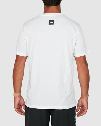 2 Double Down Short Sleeve Tee White R305043 RVCA