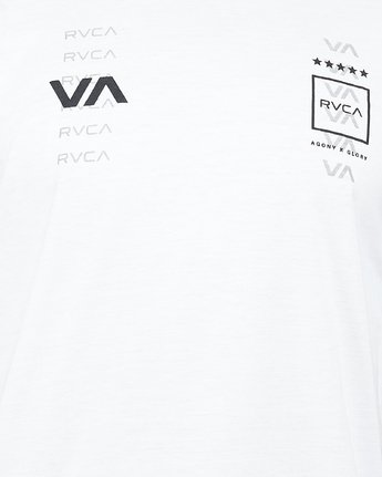 4 Double Down Short Sleeve Tee White R305043 RVCA