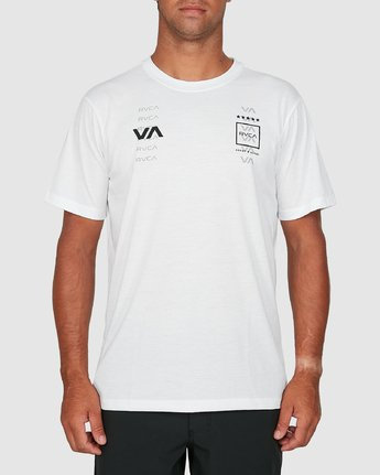 0 Double Down Short Sleeve Tee White R305043 RVCA