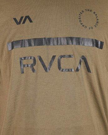 5 Mid Bar Short Sleeve Tee Green R305044 RVCA