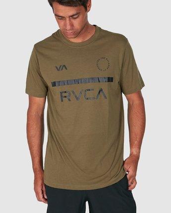 1 Mid Bar Short Sleeve Tee Green R305044 RVCA