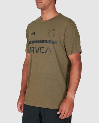 2 Mid Bar Short Sleeve Tee Green R305044 RVCA