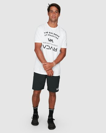 5 Balance Arc Short Sleeve Tee White R305046 RVCA