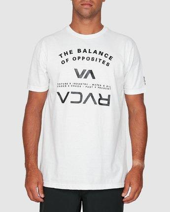 0 Balance Arc Short Sleeve Tee White R305046 RVCA
