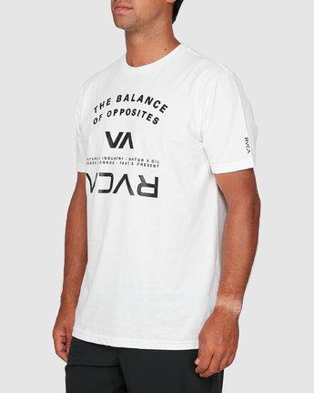 1 Balance Arc Short Sleeve Tee White R305046 RVCA