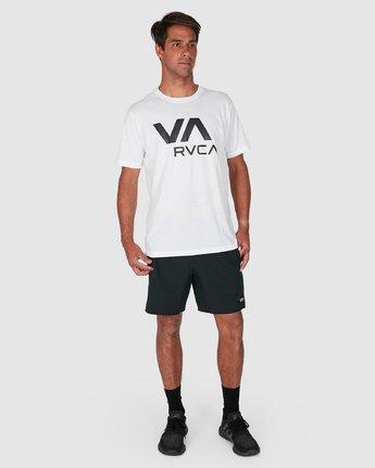 6 Va Rvca Short Sleeve Tee White R305050 RVCA