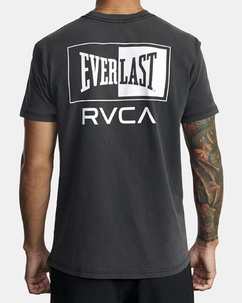 2 EVERLAST STACK SHORT SLEEVE TEE Black R305057 RVCA