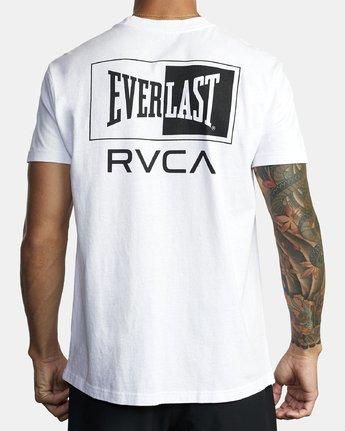 2 EVERLAST STACK SHORT SLEEVE TEE White R305057 RVCA