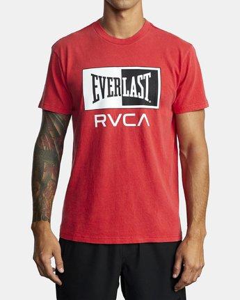 0 EVERLAST BOX SHORT SLEEVE TEE Red R305058 RVCA