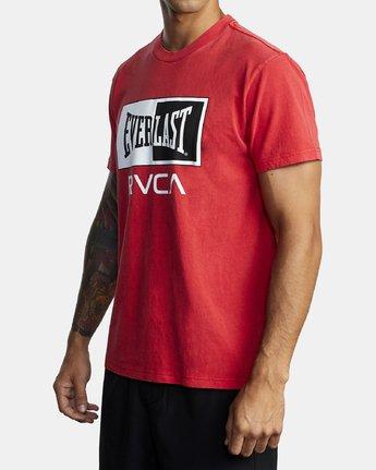 1 EVERLAST BOX SHORT SLEEVE TEE Red R305058 RVCA