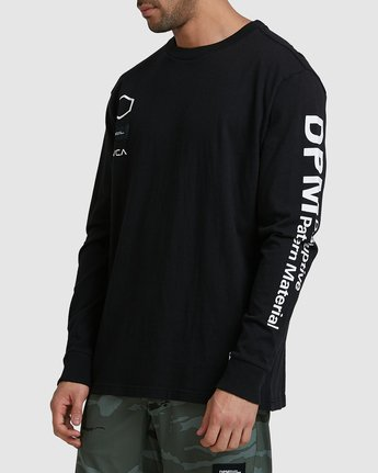 2 DPM Long Sleeve T-Shirt Black R305096 RVCA
