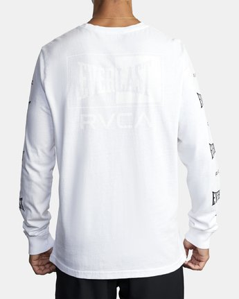3 EVERLAST BOX LONG SLEEVE TEE White R305099 RVCA