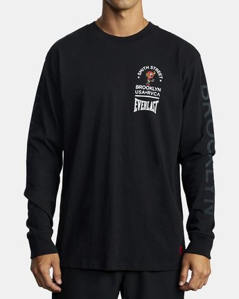 3 EVERLAST X SMITH STREET BIG ANGEL LONG SLEEVE TEE Black R305101 RVCA
