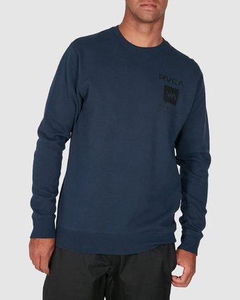 0 Sport Graphic Crew Jumper Blue R305156 RVCA