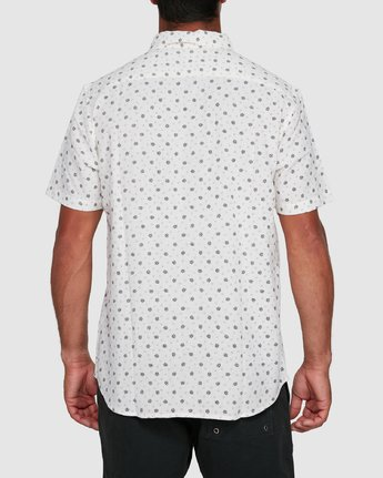 3 OUTBREAK SHORT SLEEVE TOP White R305183 RVCA