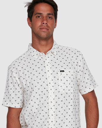 4 OUTBREAK SHORT SLEEVE TOP White R305183 RVCA