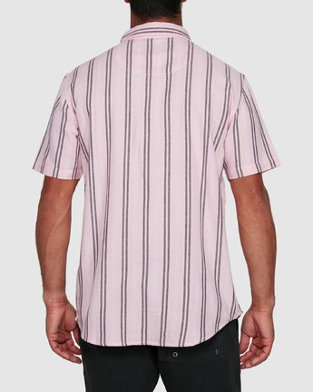 3 DISPLACED STRIPE SHORT SLEEVE TOP Pink R305189 RVCA