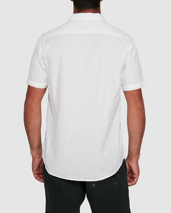 3 ENDLESS SEERSUCKER SHORT SLEEVE TOP White R305192 RVCA
