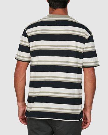 2 Curtis Stripe II Short Sleeve Tee Black R306042 RVCA