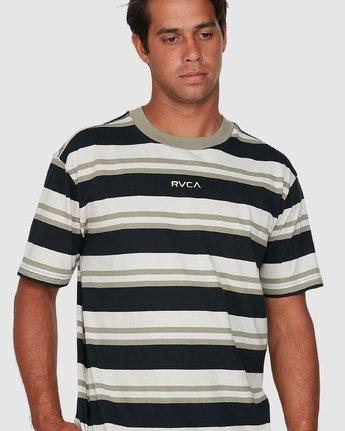 3 Curtis Stripe II Short Sleeve Tee Black R306042 RVCA