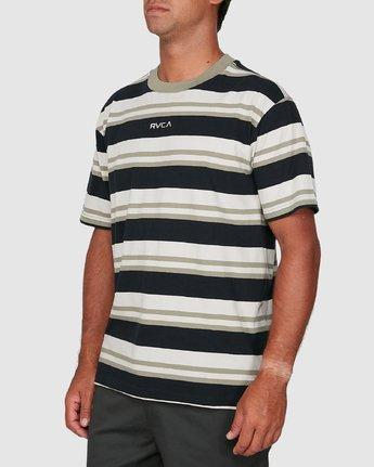 1 Curtis Stripe II Short Sleeve Tee Black R306042 RVCA