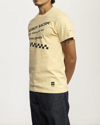 1 Destroy Racism T Shirt White R306061 RVCA