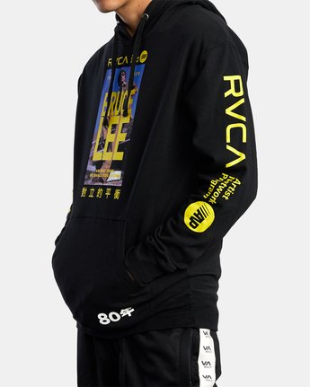 2 Bruce Lee As You Think Hoodie Black R306154 RVCA