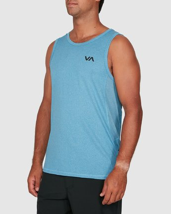 1 Sport Vent Sleeveless Top Blue R307001 RVCA