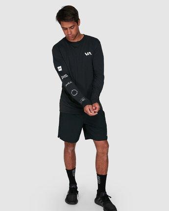 6 All Out Rvca Long Sleeve Tee Black R307046 RVCA